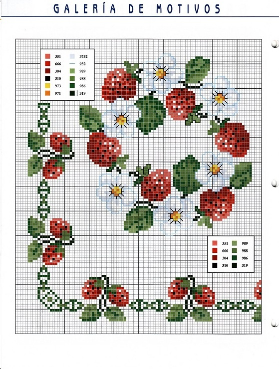 Cross stitch strawberries