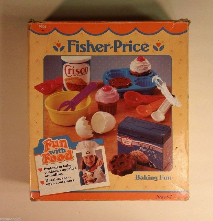 Vintage boxed fisher price fun with food baking set - Cuisine bilingue fisher price ...