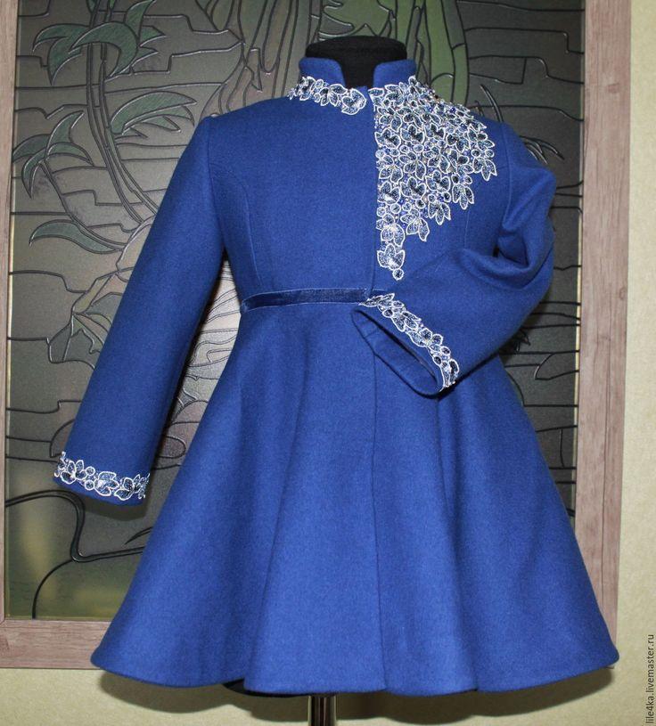 """Купить Пальто """"Северная звезда"""" - синий, однотонный, пальто, пальто на подкладе, Пальто на осень"""