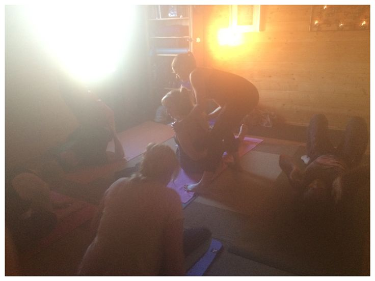 Hot and steamy Wednesday morning Mysore practice in the log cabin in Lytchett Matravers