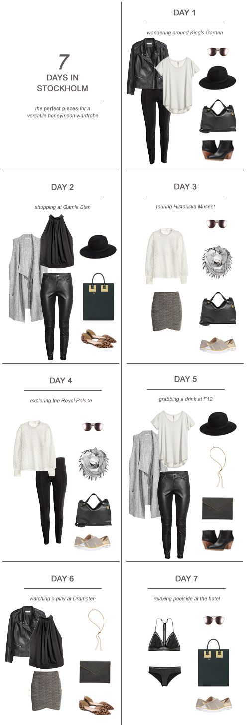 7 Days in Stockholm The Perfect Pieces for a Versatile Honeymoon Wardrobe