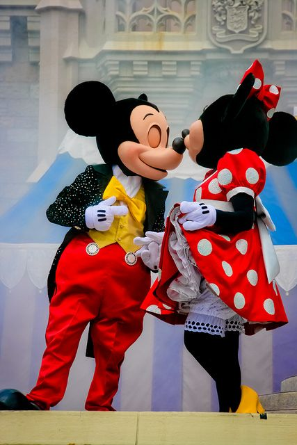 Mickey and Minnie. Did you know the people that voiced Minnie and Mickey were married in real life? :)