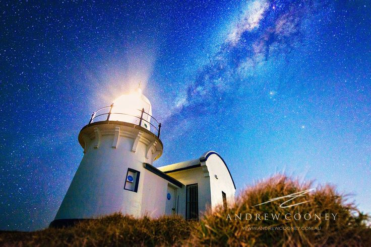 Port Macquarie - Tacking Point #Lighthouse - A beautiful Night sky over Tacking Point Lighthouse in Port Macquarie. The color of the sky is so different here, than down South and inland, very cool!    http://dennisharper.lnf.com/