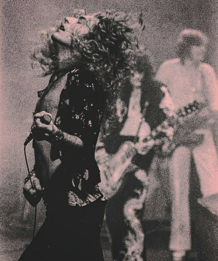 Robert Plant, it was the hair and the way he moved!
