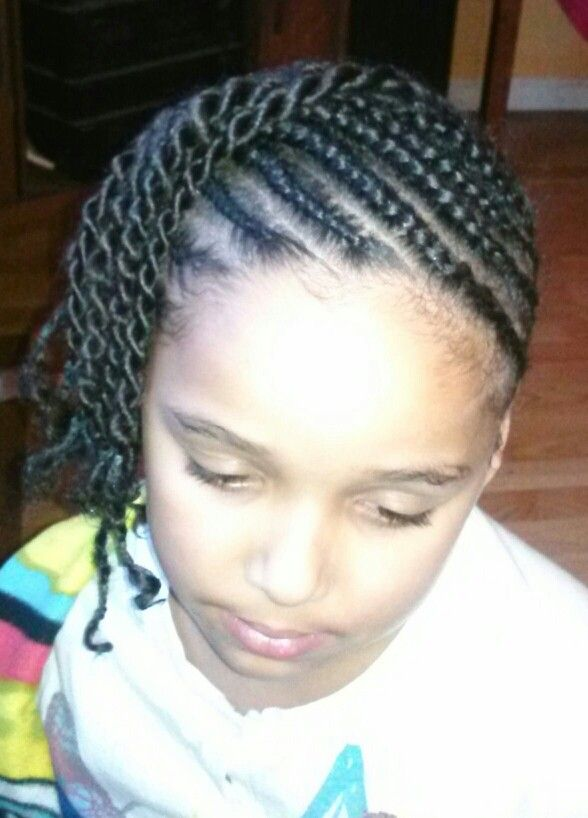 Braided And Twisted Cornrow Styles For Little Girls
