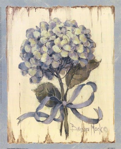 Printable image for decoupage and transfer purposes - hydrangea