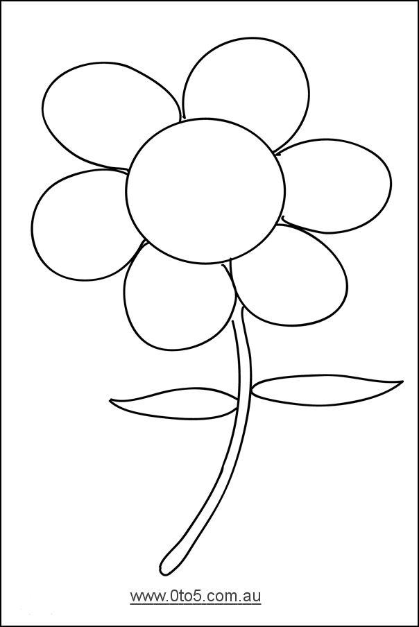 0to5 template flower Dayschool