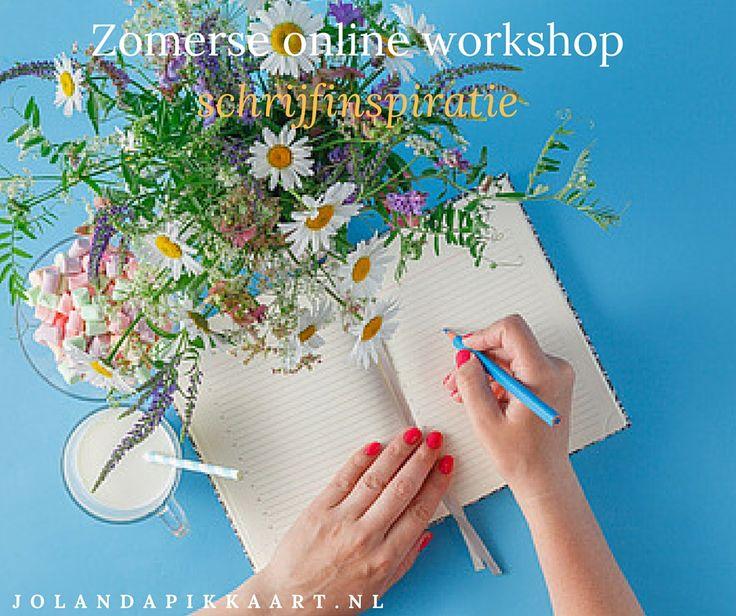 Online workshop: Schrijfinspiratie — Jolanda Pikkaart