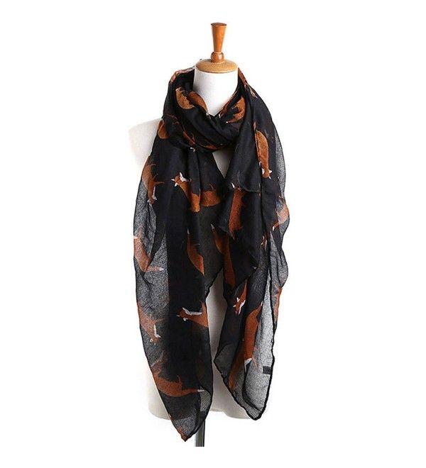 Ladies Women/'s Owl on Branch Print Scarf Wraps Shawl Soft Scarves Grey