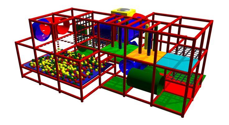 Play Mart - struttura di gioco usata e perfettamente ricondizionata, come nuova. Dimensioni: 5,00 x 7,50 x 3,5 (h)