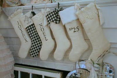 cherished*vintage: Burlap Christmas