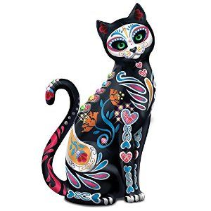 Amazon.com - Blake Jensen Mexican Sugar Skull Art Cat Figurine: Hamilton Collection by The Hamilton Collection -