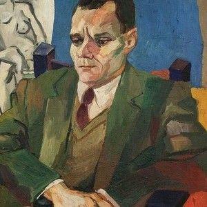 Renato Guttuso - ritratto di Alberto Moravia