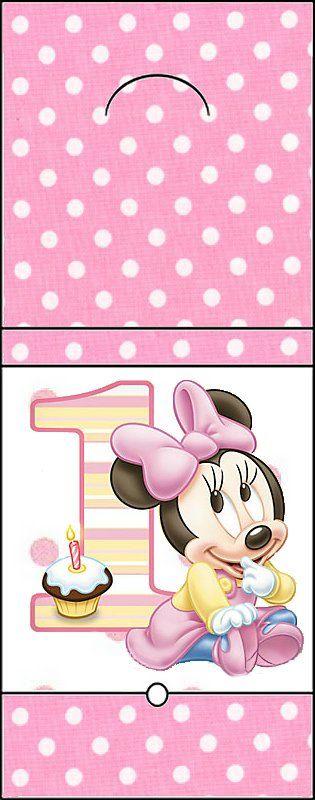Imprimibles de Minnie primer año 6.