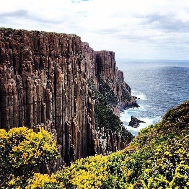 Cape Raoul, part of the Tasman National Park on the Tasman Peninsula in Tasmania's south. #discovertasmania #caperaoul #tasmannationalpark #threecapes #tasmania Image Credit: Sarah Hopkins