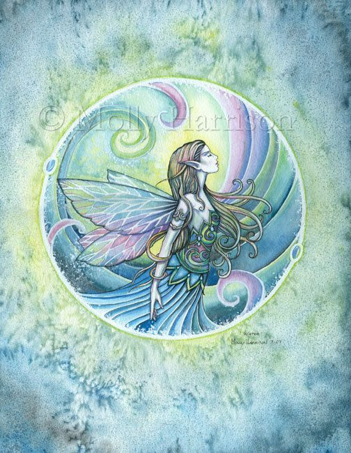 Fairy Print  Water Element by Molly Harrison  by MollyHarrisonArt, $30.00