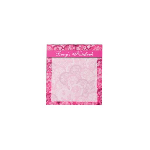 Cute floral hearts in pink note pad