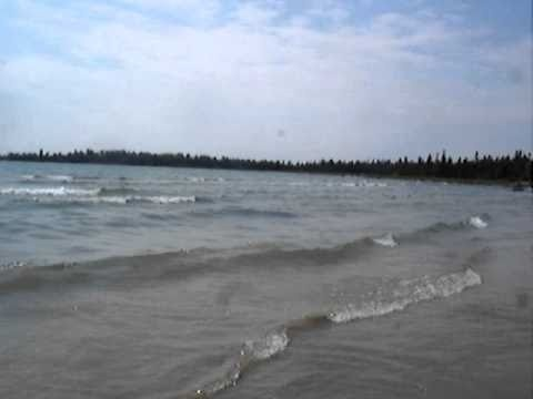 Waves in Providence Bay, Manitoulin Island, ON