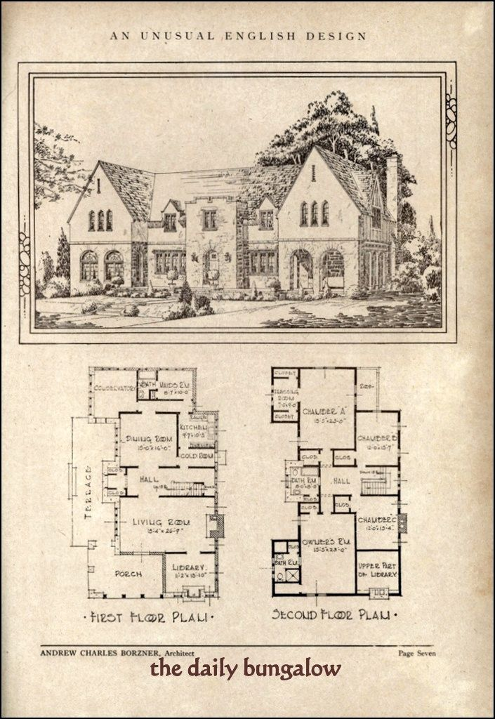 Andrew charles borzner 1928 beautiful homes design och for Antique farmhouse plans