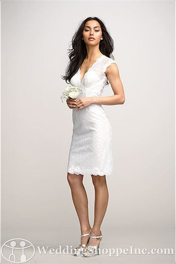 Perfect lace dress for your rehearsal. Encore by Watters Bridal Gown Iris / 2258E