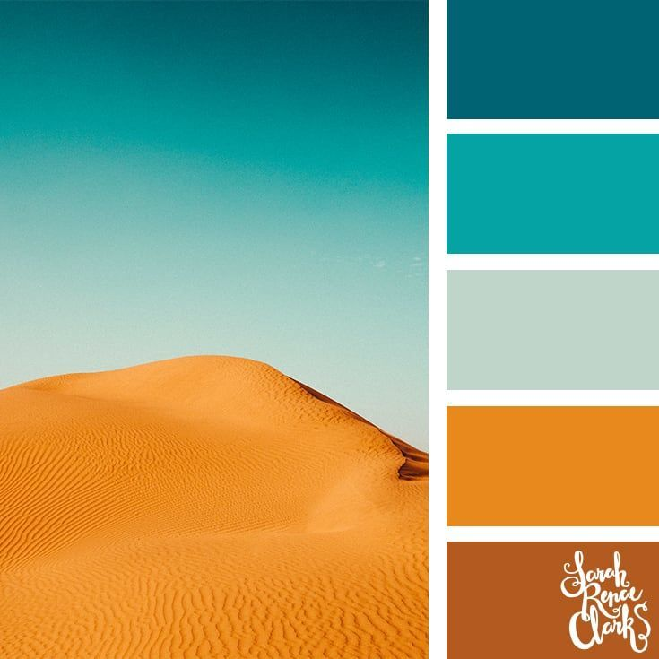 Teal and copper color inspo | 25 color palettes inspired by the PANTONE color tr…