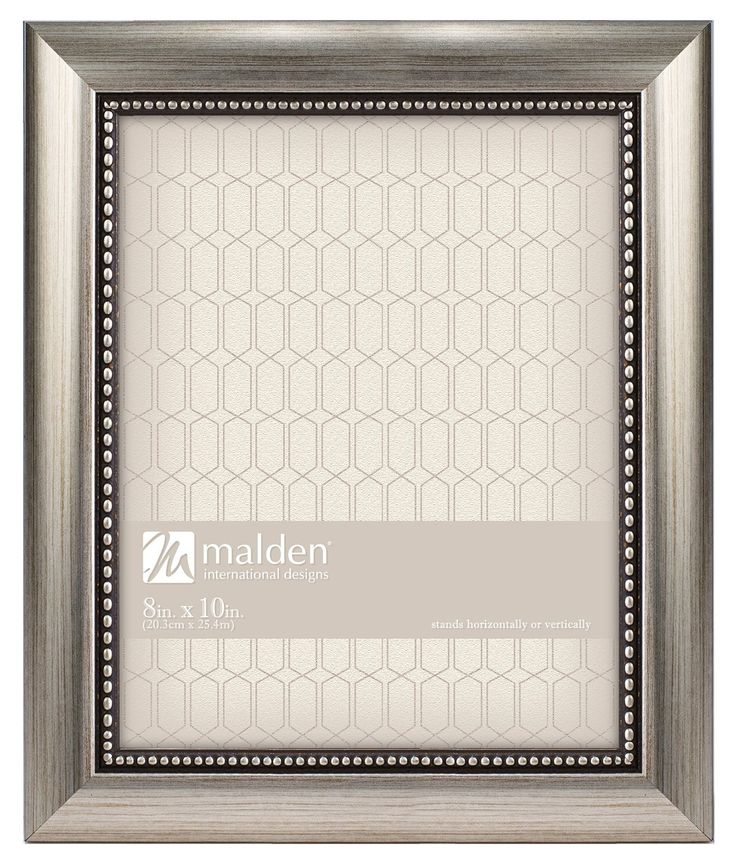 Amazon.com: Malden International Designs Champagne Beaded Pewter Picture Frame, 8 by 10-Inch, Silver: Home & Kitchen
