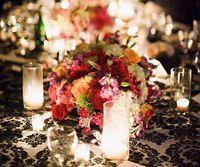 Royal Taffeta Flocking Damask Tablecloth