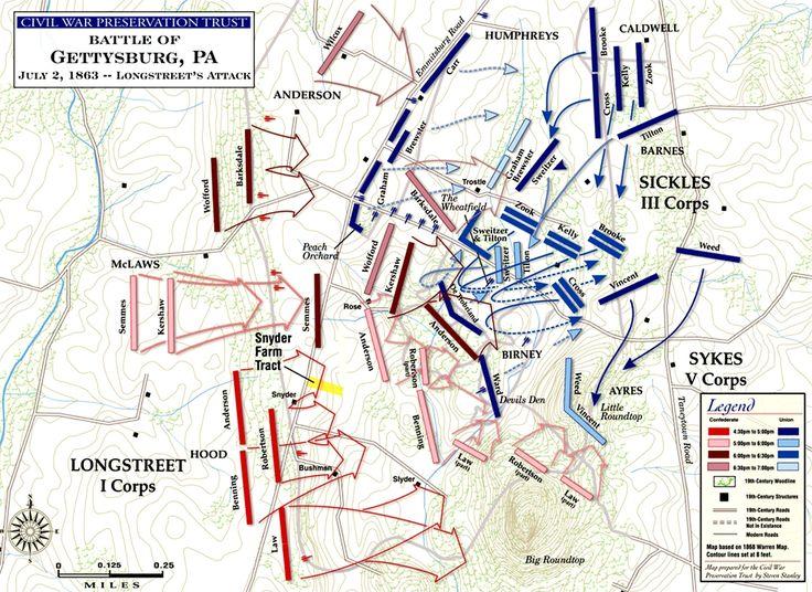 battle of gettysburg longstreets attack