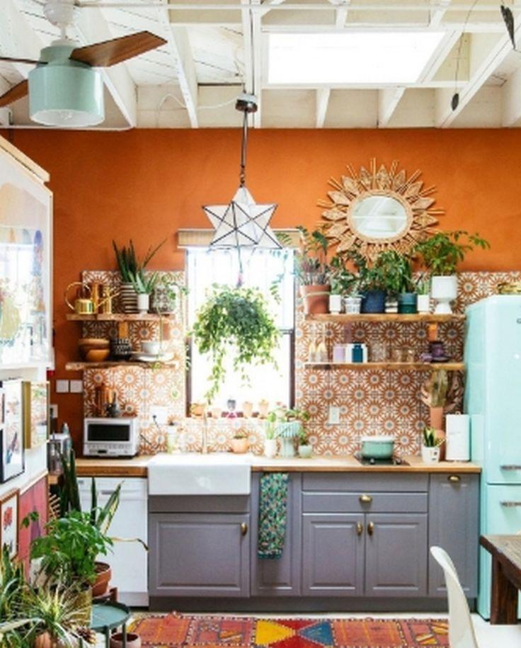 8 unique and colorful bohemian kitchen design ideas in 2020 bohemian kitchen bohemian style on kitchen interior boho id=48390