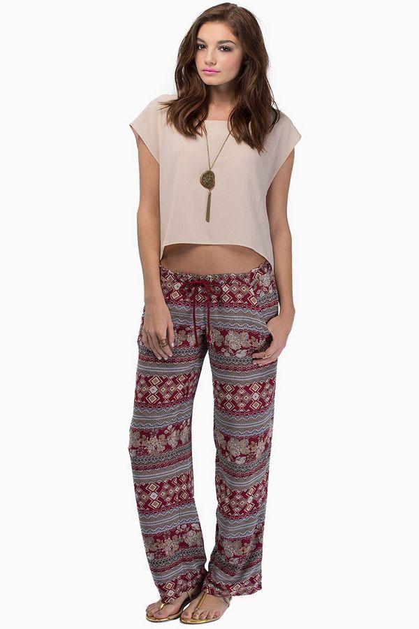 Midnight Memories Drawstring Pants at Tobi.com #shoptobi