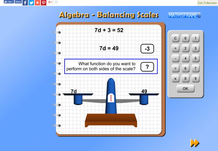 Algebra - Balancing Scale