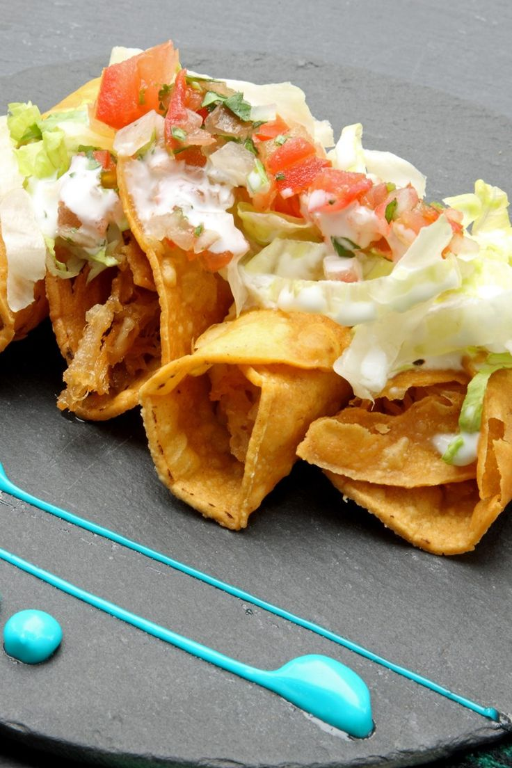Crispy Rolled Chicken Tacos (Taquitos) Rolled chicken