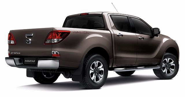 Rear of the 2016 Mazda BT-50 PRO