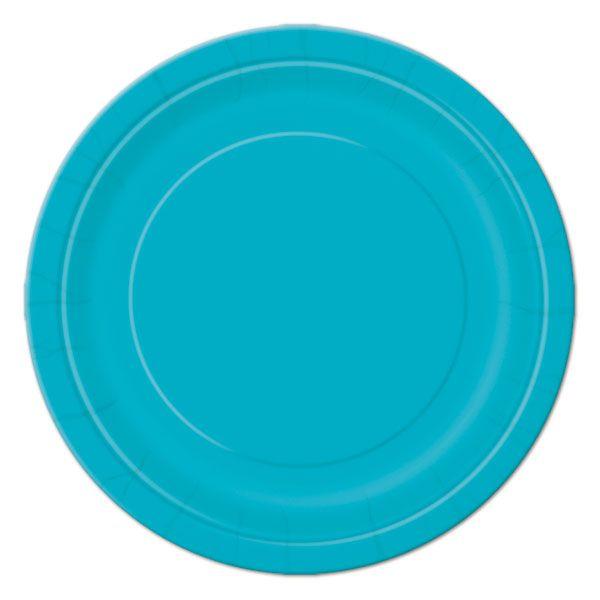 Teal Dessert Plates (8)