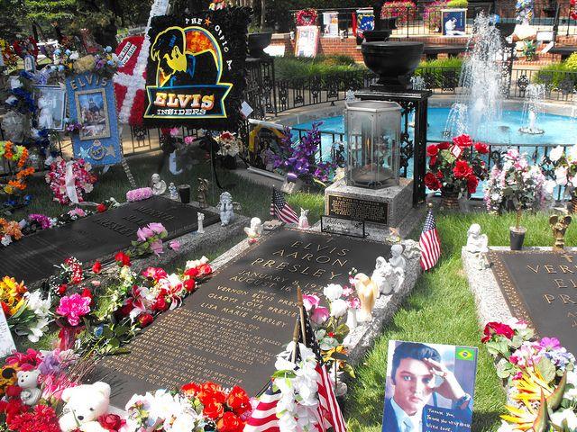 The grave of Elvis Presley