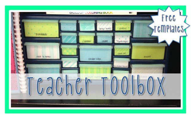Teacher toolbox templates!