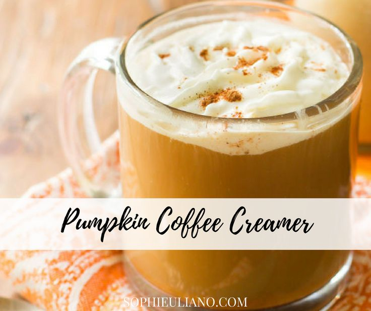 I love my home made pumpkin coffee creamer because many coffee creamers that you find at the grocery store are filled with disgusting ingredients, which cannot be healthy in any way, shape or form. Check out this great recipe on my blog: http://sophieuliano.com/recipes/pumpkin-coffee-creamer/