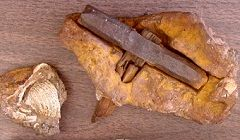 The London Hammer: An Object Out of Time?  An old story regarding a hammer found encased within rock has recently resurfaced. It came to us in a question: is this hammer, the London Hammer, an example of an out of place artifact (OOPart) that calls into question geology, archeology, and the natural history of the Earth? Let's take a look.