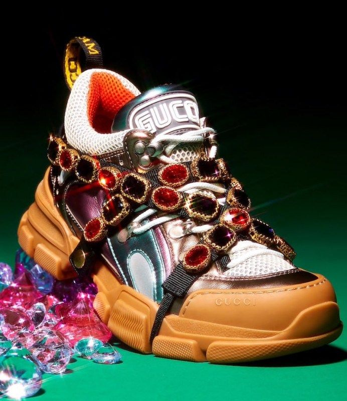 gucci flashtrek sneaker aus leder off