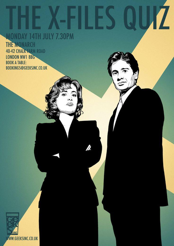 Pub Quiz: The X-Files Where: The Monarch, Camden Town When: 14th Jul 2014 Book a team: bookings@geeksinc.co.uk