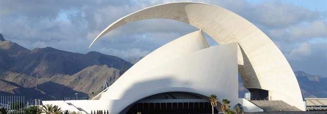 Auditorio de Tenerife Adán Mártin by Santiago Calatrava. Great use of thin shell concerete
