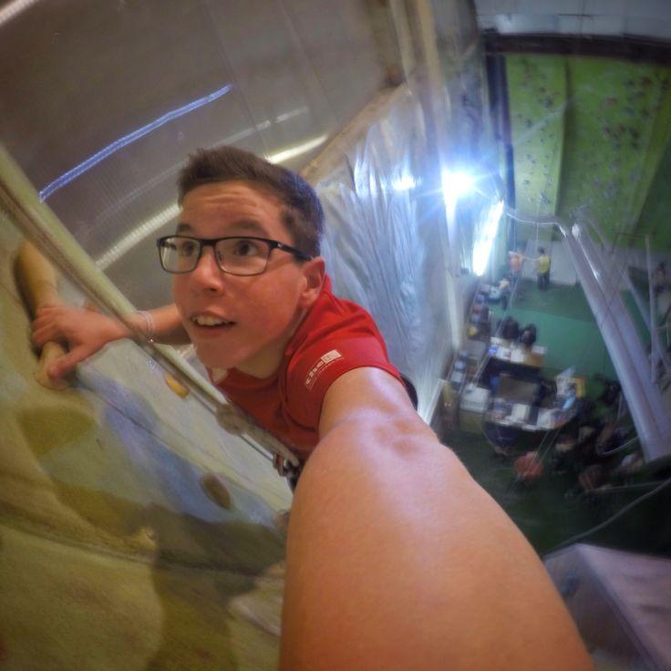Gopro wall climbing