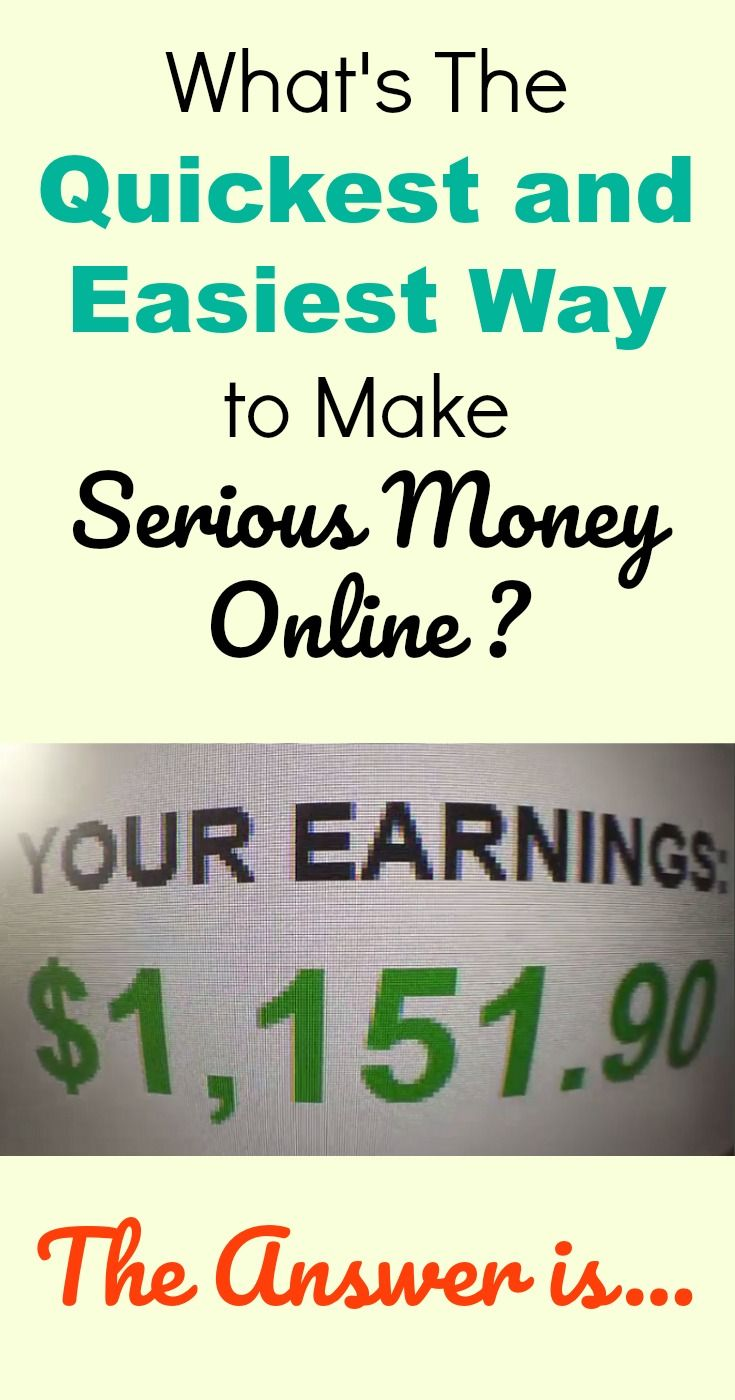 Learn what is the quickest and easiest way to make serious money online.  #affiliatemarketing