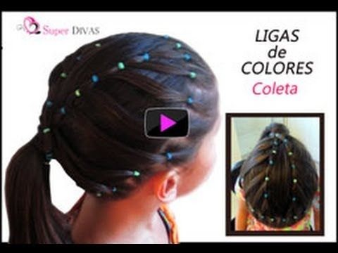 VIDEO Paso a paso - Corona hecha en ligas de colores. Este peinado dura varios dias. VIDEO tutorial - crown made with elastics. Easy and beautiful. This little girls hairdo lasts several days made by www.2superdivas.com