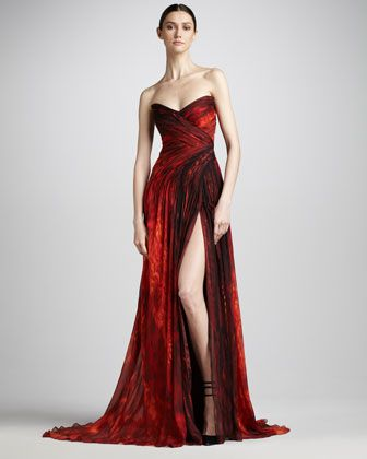 48 best gorgeous gowns images on pinterest cute dresses neiman monique lhuillier strapless chiffon gown look nyc fall 2012 fashion week neiman marcus junglespirit Images