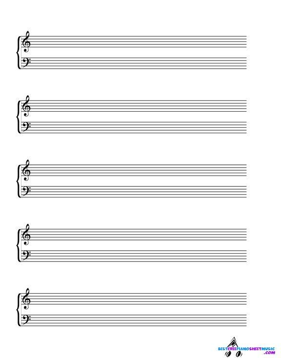 Blank Sheet Music Pdf Blanksheet Musicsheet Musicnotes Music