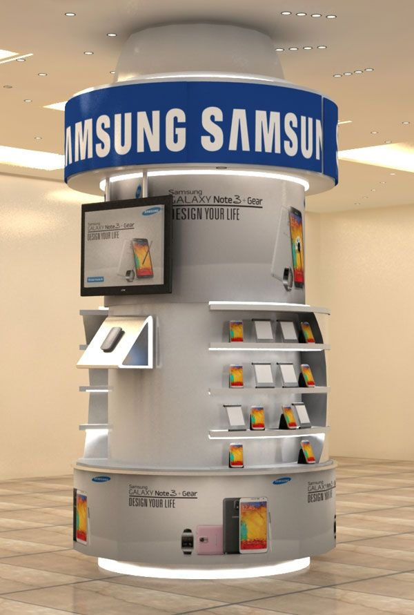 Exhibition Stand Items : Samsung galaxy note gear display stands innovative