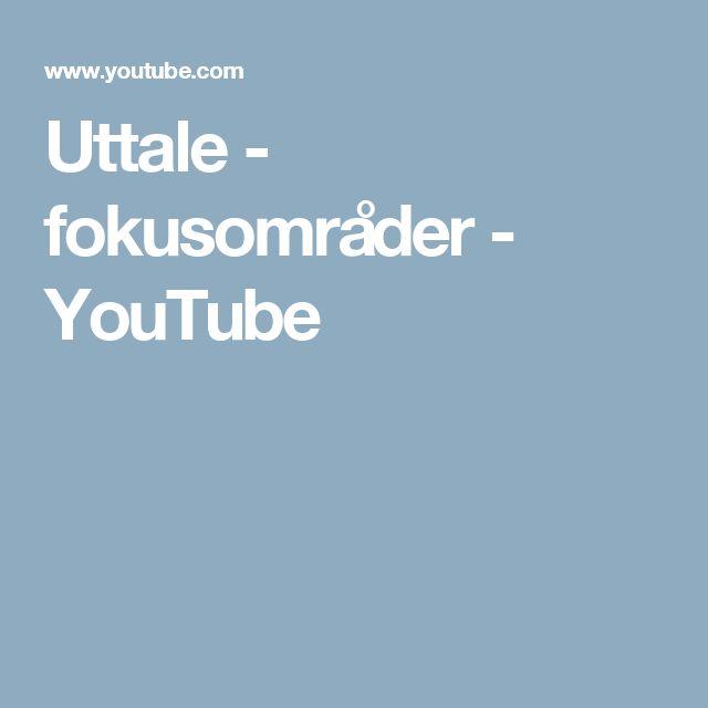 Uttale - fokusområder - YouTube