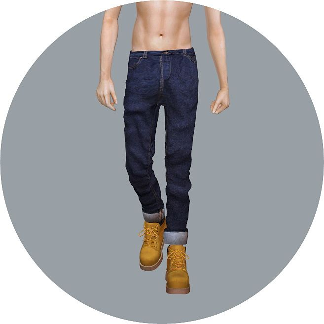 Male Roll-Up Jeans at Marigold via Sims 4 Updates