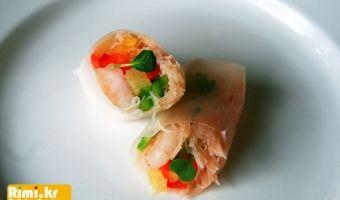 맛있는 요리 레시피 - 리미의 레시피 ::Rimi.kr:: - 새우 월남쌈 (라이스페이퍼롤)